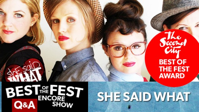Best of the Fest Q & A: She Said What